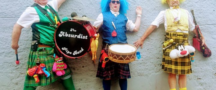 The Absurdist Pipe Band Play at Höchster Schlossfest, Germany